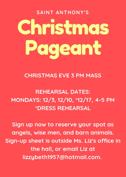 Christmas Pageant flyer
